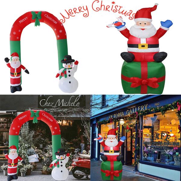 navidad, Christmas, Santa Claus, inflatablearchornament