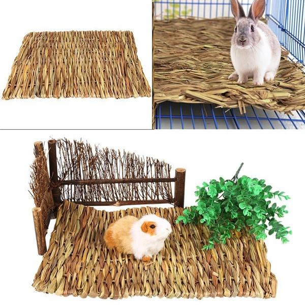 strawmat, Grass, rabbit, handwoven