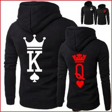 Couple Hoodies, King, Poker, kingandqueenprintedhooide