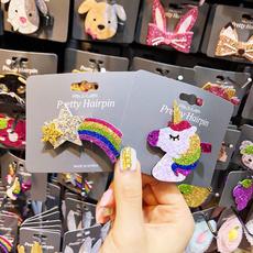 cute, flowerhairclip, rainbow, bowhairclip