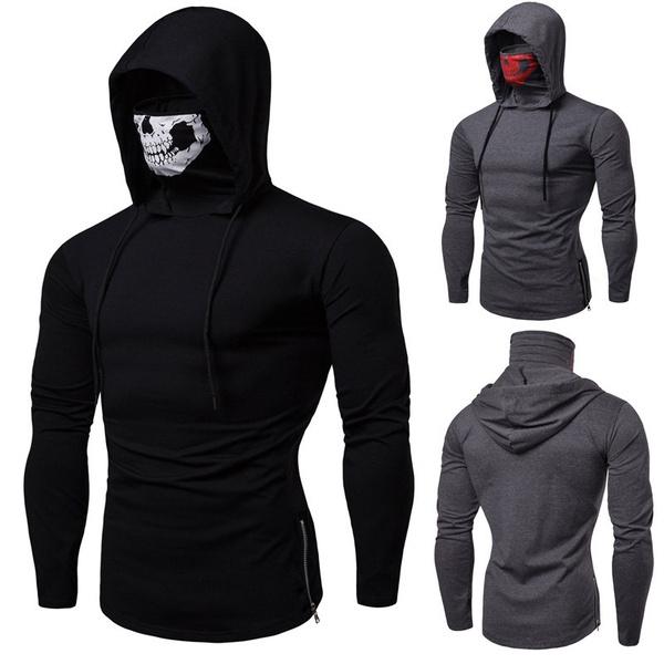 Fashion, Fitness, hoodedtshirt, halloweentshirt