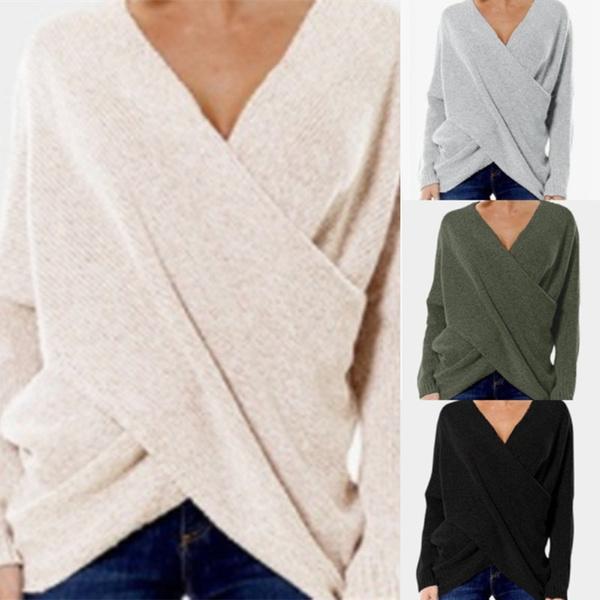 Fashion, Long Sleeve, Tops, Cross