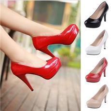 Heels, officeladyhighheelshoe, roundtoehighheeledshoe, Fashion