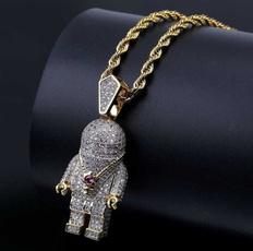 astronautnecklace, Men  Necklace, punk necklace, Jewelry