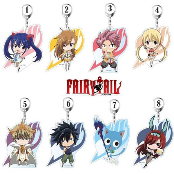 fairytailkeychain, Jewelry, fairy, Key Rings