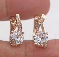 yellow gold, 18k gold, Gemstone Earrings, topazearring