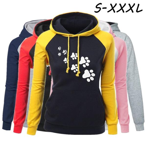Casual Hoodie, sweatshirt women, Pets, Winter