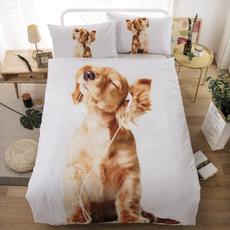 3pcsbeddingset, kingsize, Home textile, Dogs