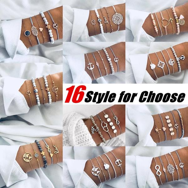infinity bracelet, Heart, turquoisebracelet, Infinity