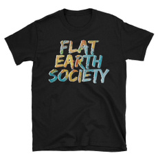 flatearthsociety, Cotton T Shirt, short sleeved tshirt, Men