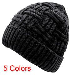Beanie, knitted hat baseball cap, Knitting, fashionmenhat