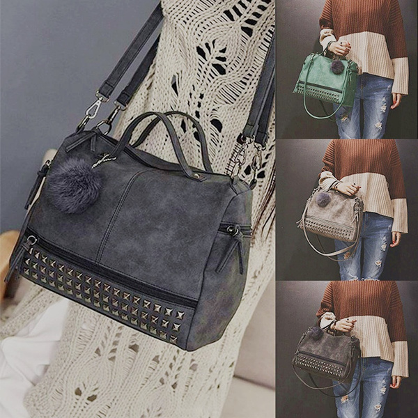 Shoulder Bags, rivettote, Tote Bag, leather