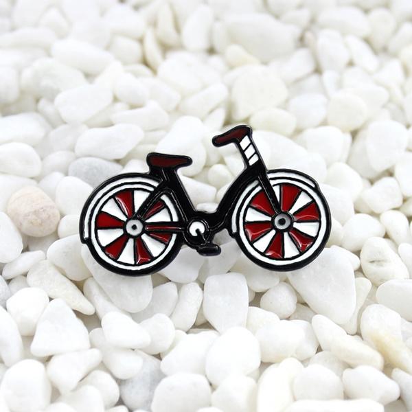 fashionbrooch, newredcolor, Bicycle, Pins