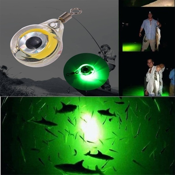 Luminous Fishing Light Night Fluorescent Glow in the Dark Eye Shape Fishing Fish Lure Fish Bait Attractant ZARQ LED Fishing Lure