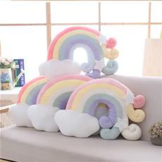 Kawaii, rainbow, Decor, sofapillow