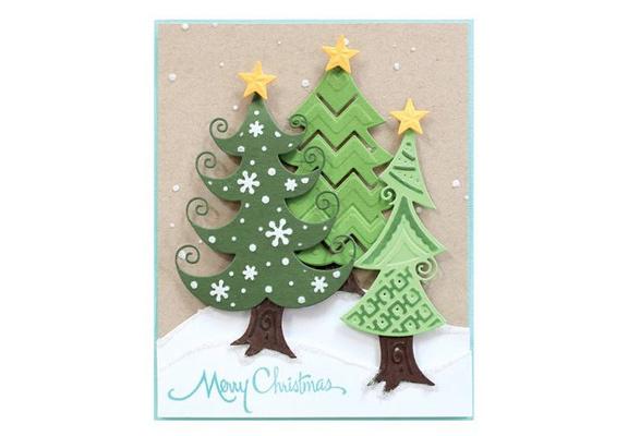 DIY Christmas Tree Metal Cutting Dies Stencil Scrapbooking Paper//Card Embossing
