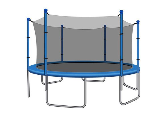 SkyBound 12ft Trampoline Net for Trampolines Using 6 Straight Poles or 3 Arches