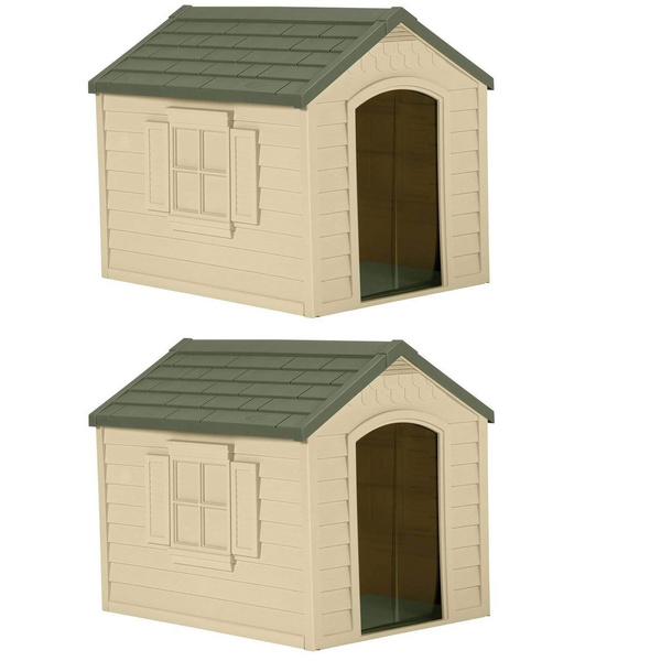 brown, outsidedoghouse, largedoghouse, Pets