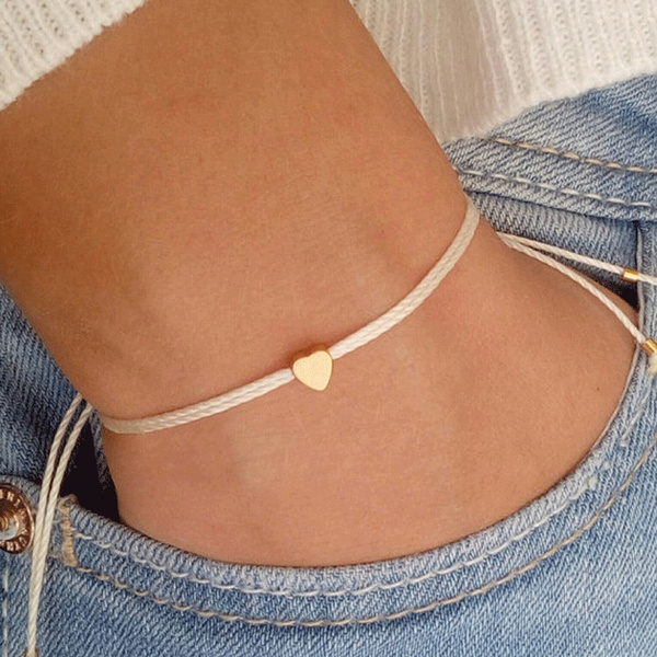 Beaded Bracelets, Star, wishbracelet, gold