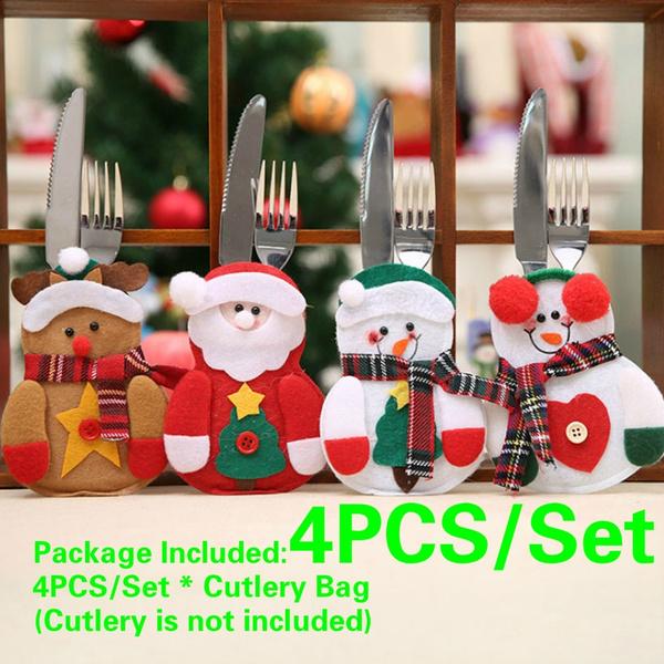 Pocket, Decor, Christmas, santaclaustableware