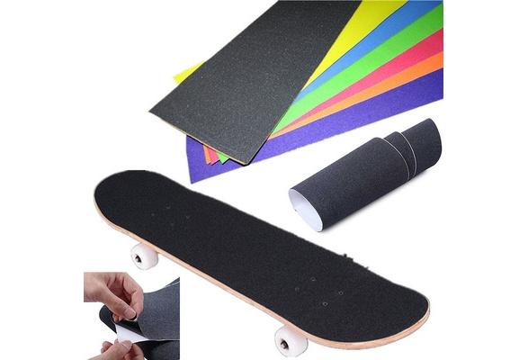 Waterproof Skateboard Grip Tape Perforated Grip Tape Skate Scooter 84*23cm A2K6