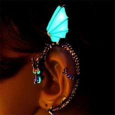 Magic, punk earring, Glow, Stud Earring