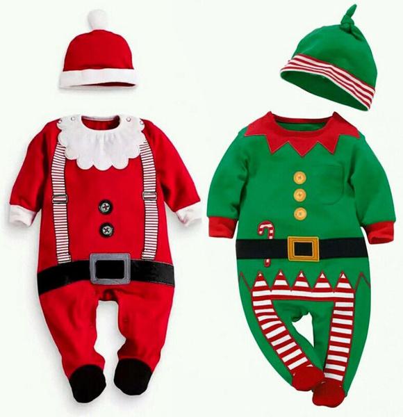 Christmas, babyonesie, christmasromper, Santa Claus