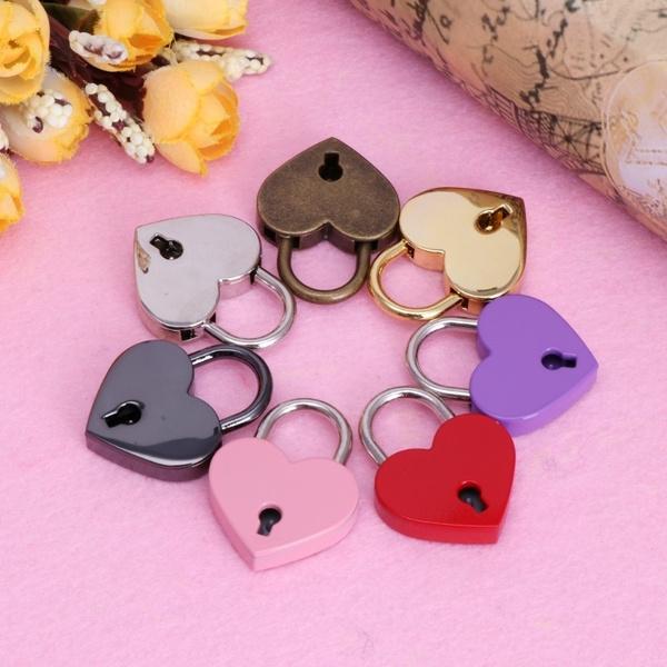 Antique, Mini, heartshapelock, archaizepadlock