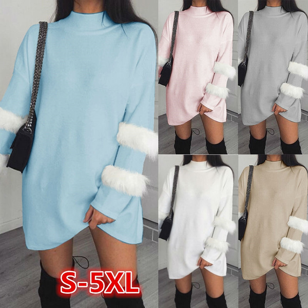 women pullover, Plus Size, sweater dress, sexy Women's Fashion