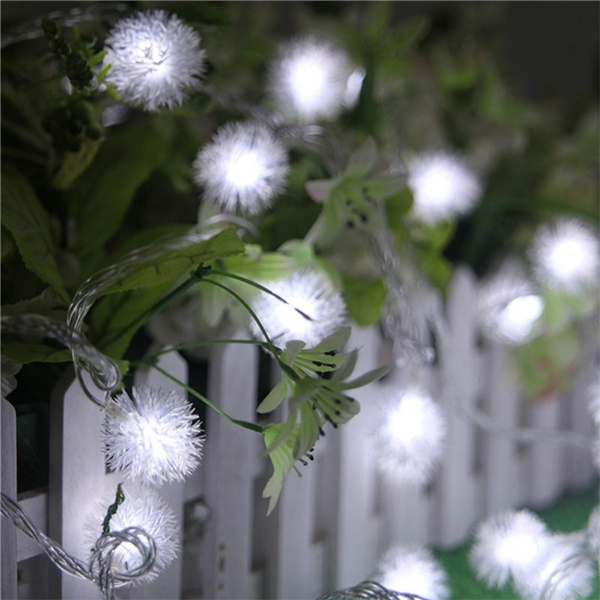 snowpompon, Garden, fairylight, Festival