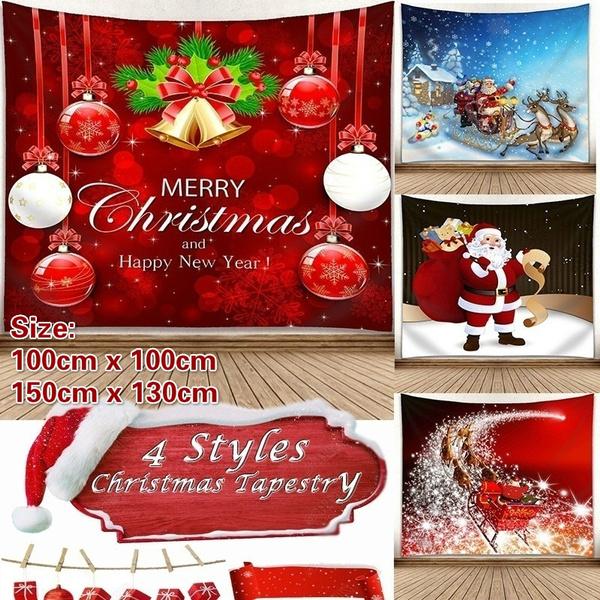 christmaswallblanket, printedhangcloth, christmastapestry, Christmas