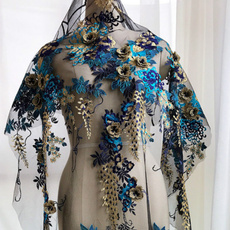 Craft, 3dflowerspatch, Decor, embroideredbeadedflowerlaceapplique