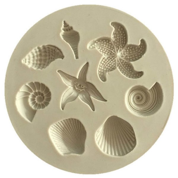 fondantmold, cakedecorationtool, starfish, Silicone