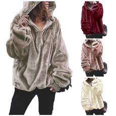 Plush, Women Sweater, pullover hoodie, sweater coat