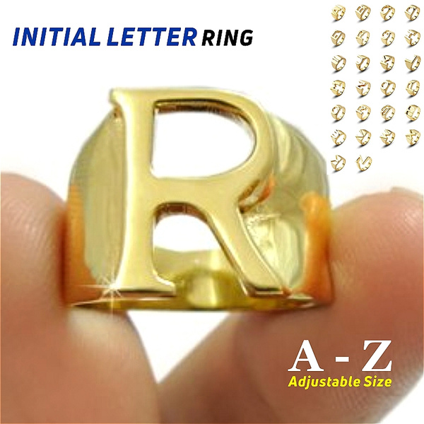 Couple Rings, initialring, alphabetring, letterring