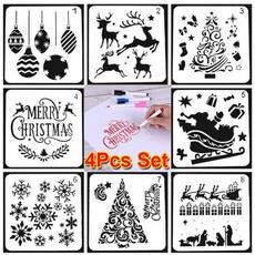 diyscrapbookingalbumcraft, stencil, Scrapbooking, Christmas