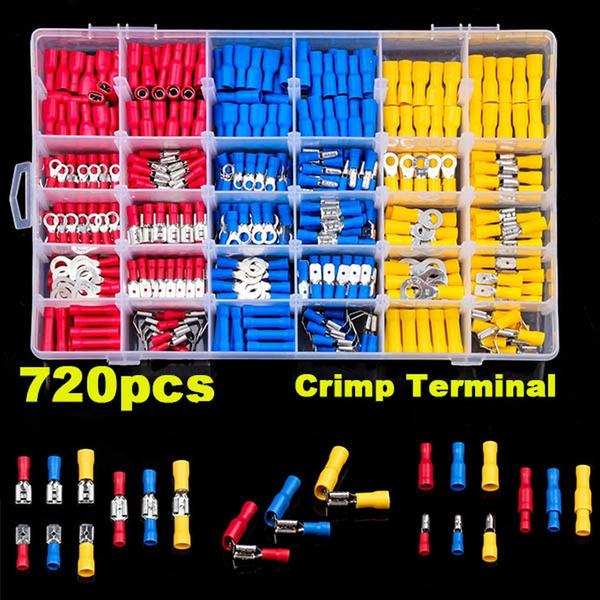 bulletterminal, electricalbuttconnector, vehicleelectricalterminal, insulatedcrimpterminal