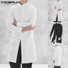 Stand Collar, Jacket, cardigan, Cotton Shirt