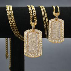 Hip Hop, Army, squaretagnecklace, hip hop jewelry