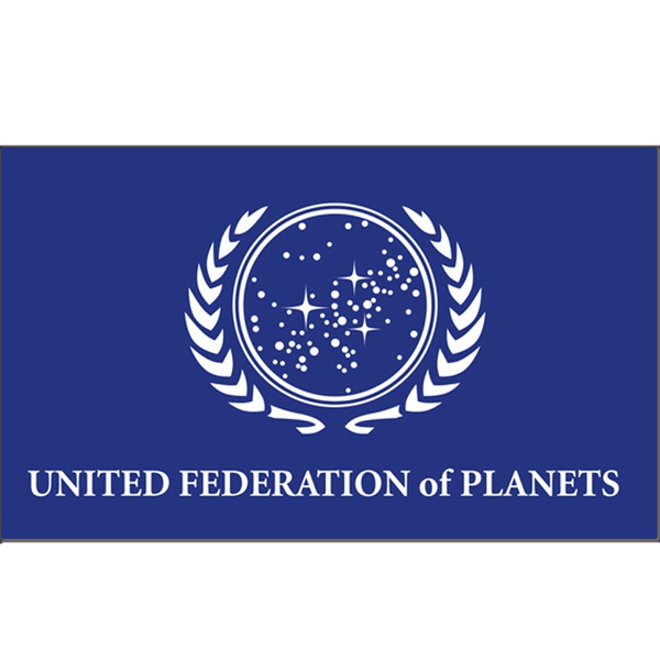 United Federation of Planets Flag 3X5 FT Banner Polyester