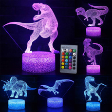 Night Light, remotecontrol3dlednightlight, decoration, dinosaurseries3dnightlight