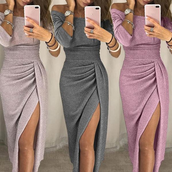 highslit, Sexy Dress, Sleeve, Long Sleeve