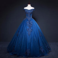 Blues, Plus Size, Sleeve, Dress