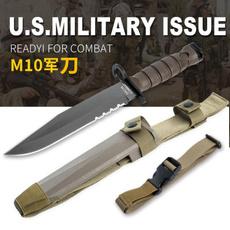 Outdoor, fixedknifewithsheath, Army, fixedbladeknive