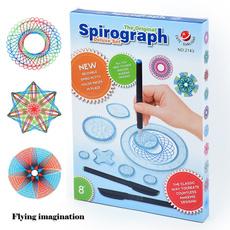 kidspirographrulerset, originalspirographrulerset, Craft, spiral