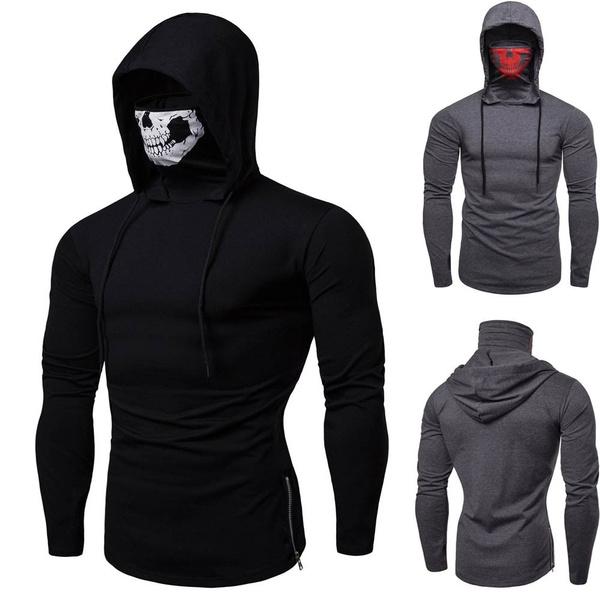 hooded, Sleeve, skull, men clothing