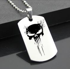 Steel, Dark Knight, skullnecklace, Fashion