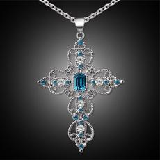 Blues, pink, Jewelry, Cross Pendant
