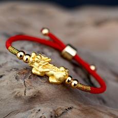 Sterling, Charm Bracelet, Adjustable, gold