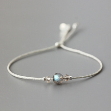 Sterling, Charm Bracelet, Natural, Jewelry